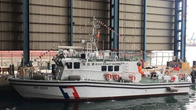 第3艘35吨级巡防艇。(海委会提供)