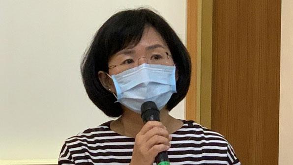 民進黨立委蘇巧慧呼籲中研院建立除名機制。(記者 黃春梅攝)