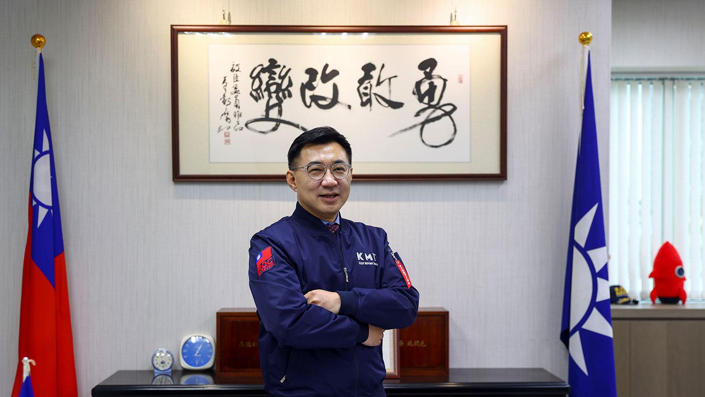 现任国民党主席江启臣(路透社)