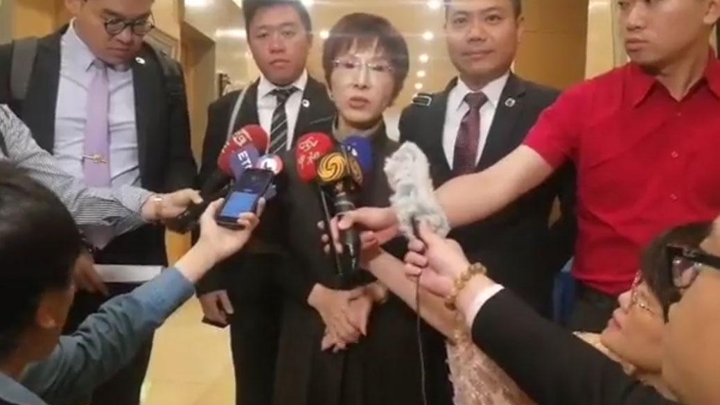 洪秀柱接受媒体采访。(视频截图/洪秀柱脸书)