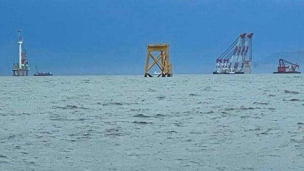 中国越界抽砂后 又在马祖东莒外海兴建离岸发电机
