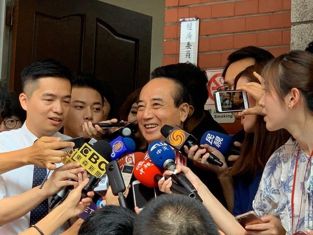 前立法院长王金平可望与郭台铭搭档参选。(王金平办公室提供)