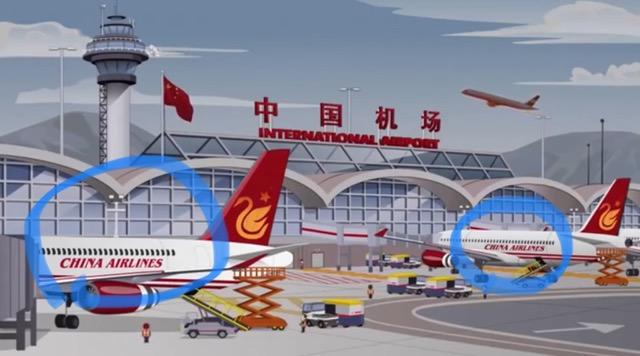卡通剧《南方公园(South Park)》把台湾的China Airlines (中华航空)误认为中国企业。(截图自网路)