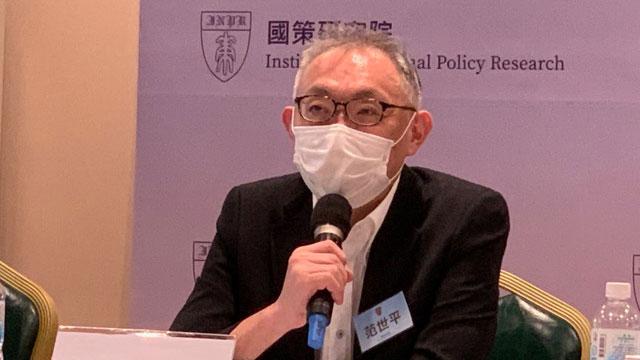 台湾师范大学政治研究所教授范世平认为蔡英文要推动第三共和。(记者 黄春梅摄)