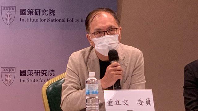 台湾智库谘询委员董立文认为蔡英文要解决台湾认同。(记者 黄春梅摄)