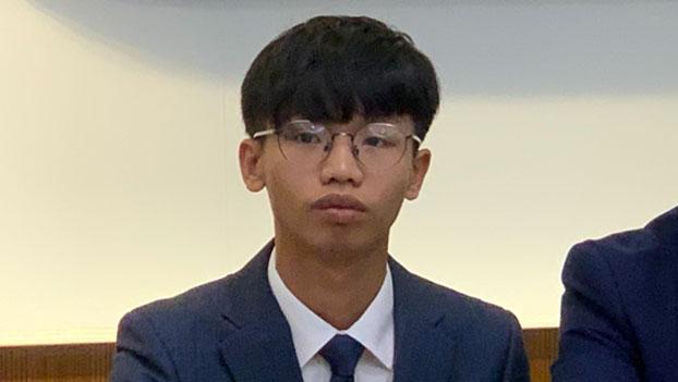 """香港""""学生动源""""召集人钟翰林称,最少有五百位中学生需要来台读书。(记者 黄春梅摄)"""