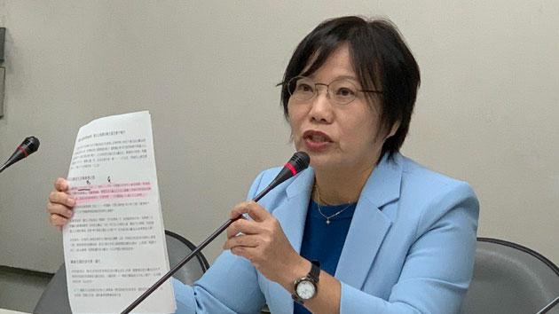 民进党立委刘世芳揭黄埔四海同心会主旨之一为国共第三次合作。(记者 黄春梅摄)