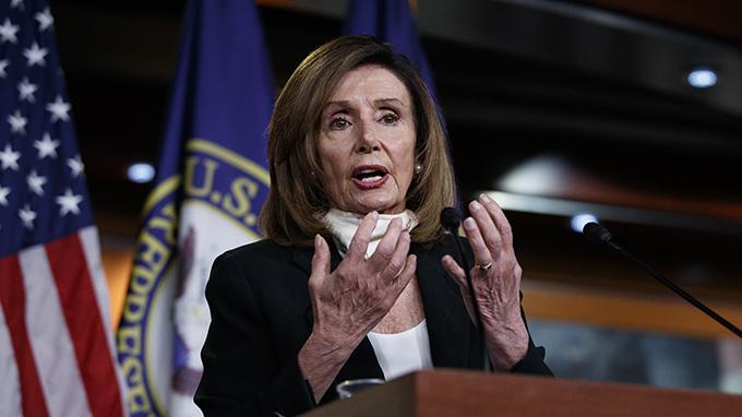 美国众议院议长佩洛西(Nancy Pelosi)(美联社)