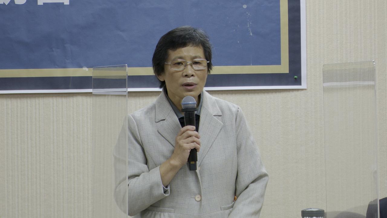 时代力量党主席陈椒华。(记者李宗翰摄)