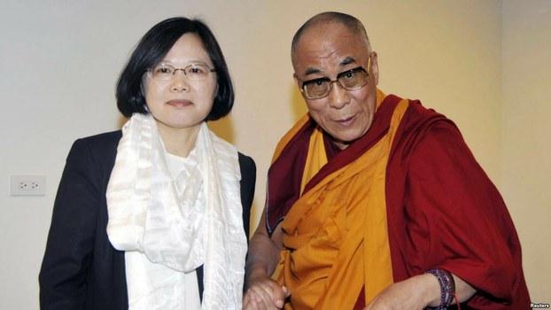 西藏精神领袖达赖喇嘛祝贺蔡英文连任