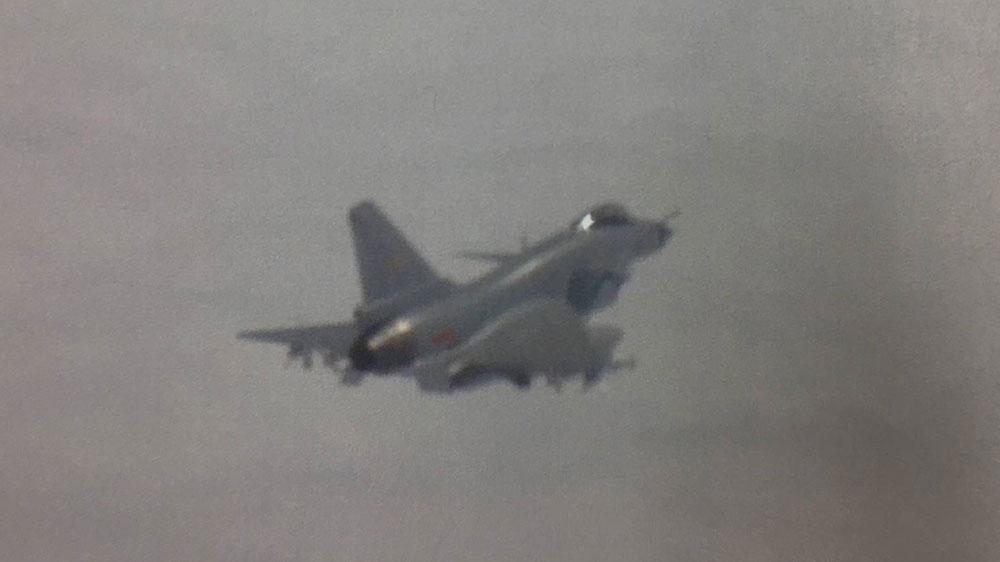 中共歼-10。(台湾国防部提供)