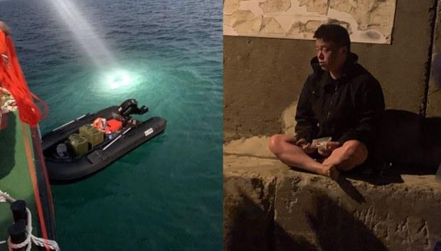 """大陆男子称驾艇横穿台湾海峡""""投奔自由""""引舆论质疑"""
