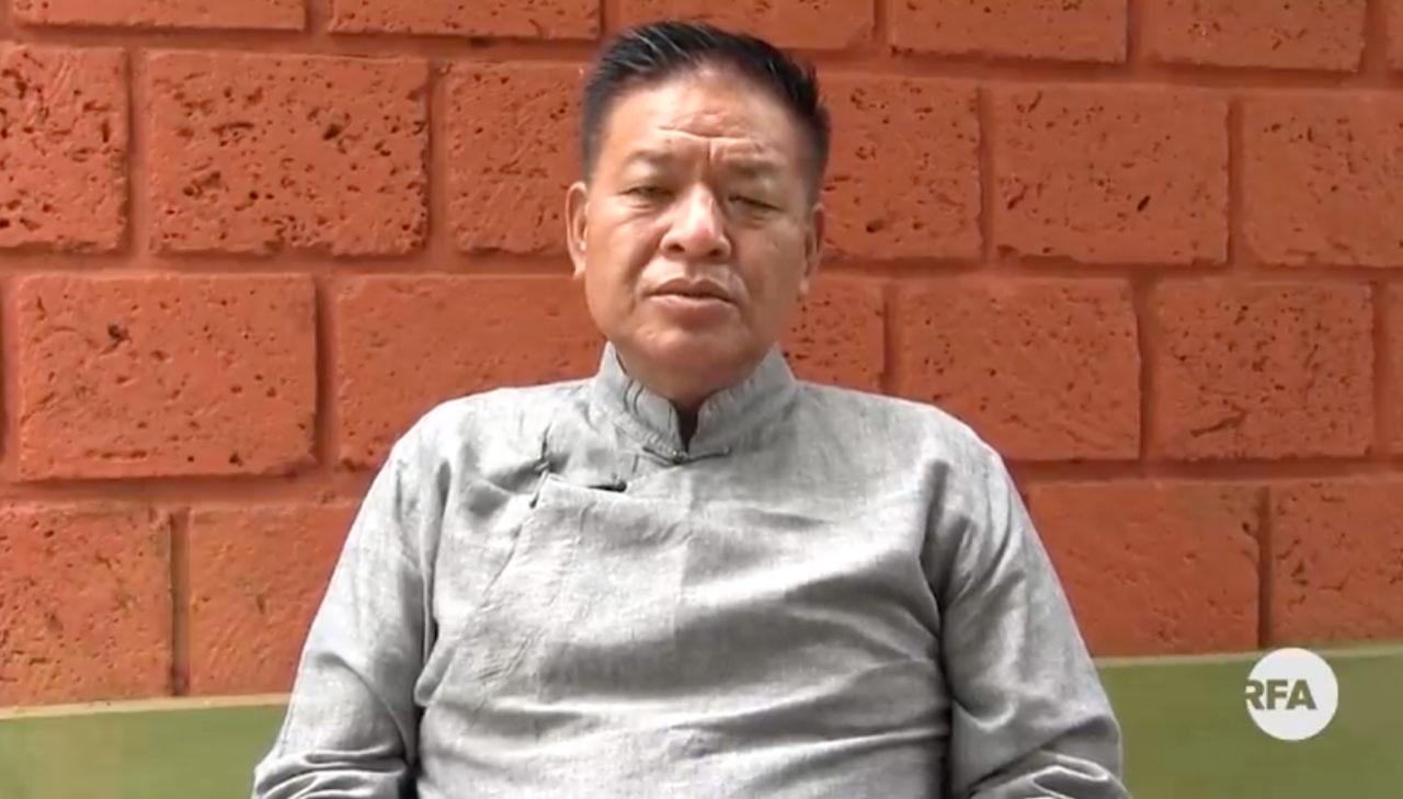 藏人行政中央新当选司政边巴次仁透过视频发表感言。(RFA)