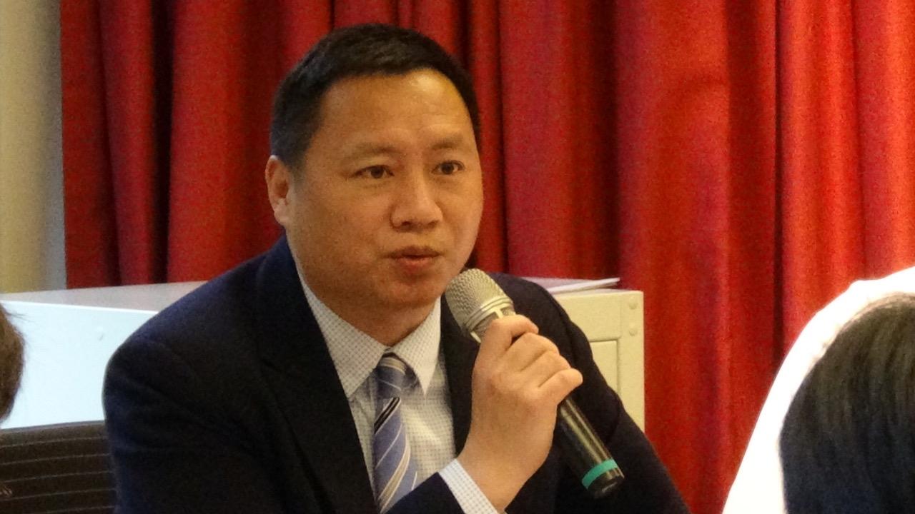 前八九学运领袖王丹(记者夏小华摄)