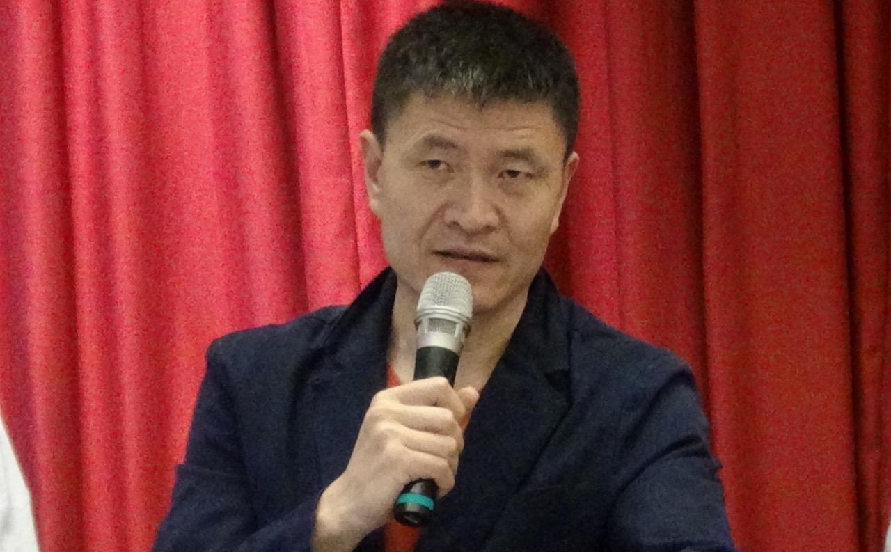 前八九学运领袖周锋琐(记者夏小华摄)