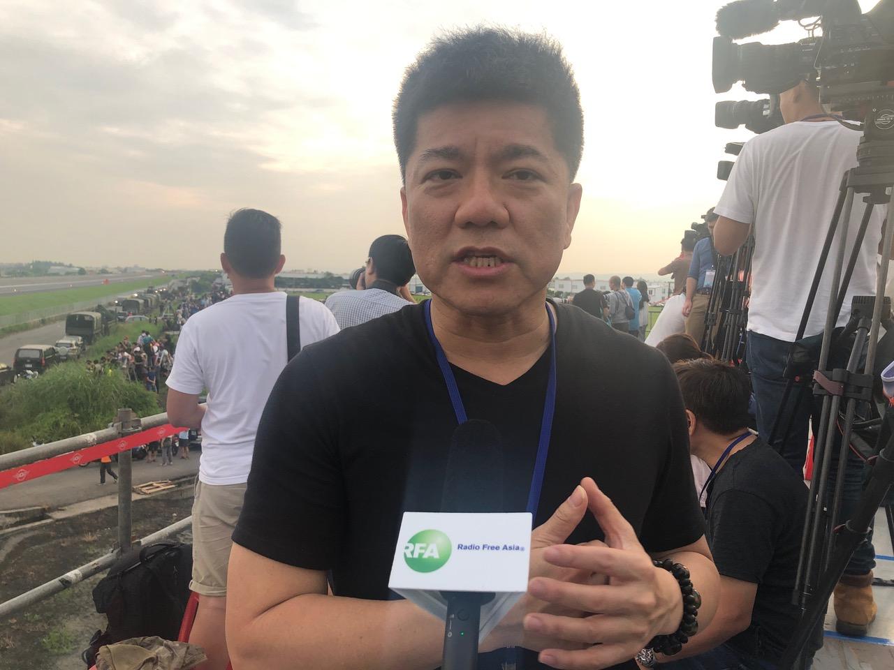 亚太防务杂志总编辑郑继文。(记者夏小华摄)
