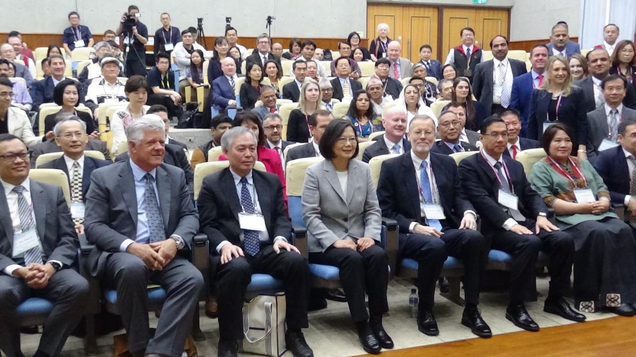 """蔡英文总统出席""""台湾国际宗教自由论坛""""。(记者夏小华摄)"""