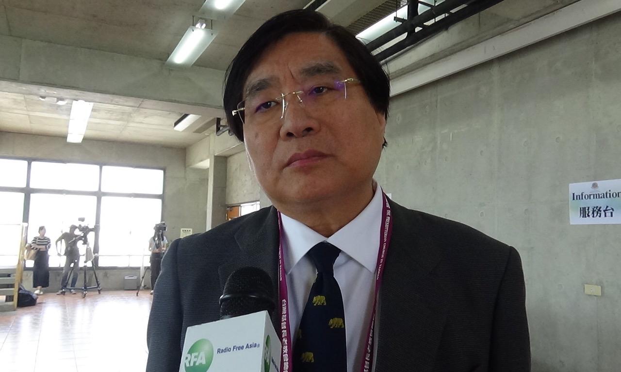 台湾关怀中国人权联盟理事长杨宪宏。(记者夏小华摄)