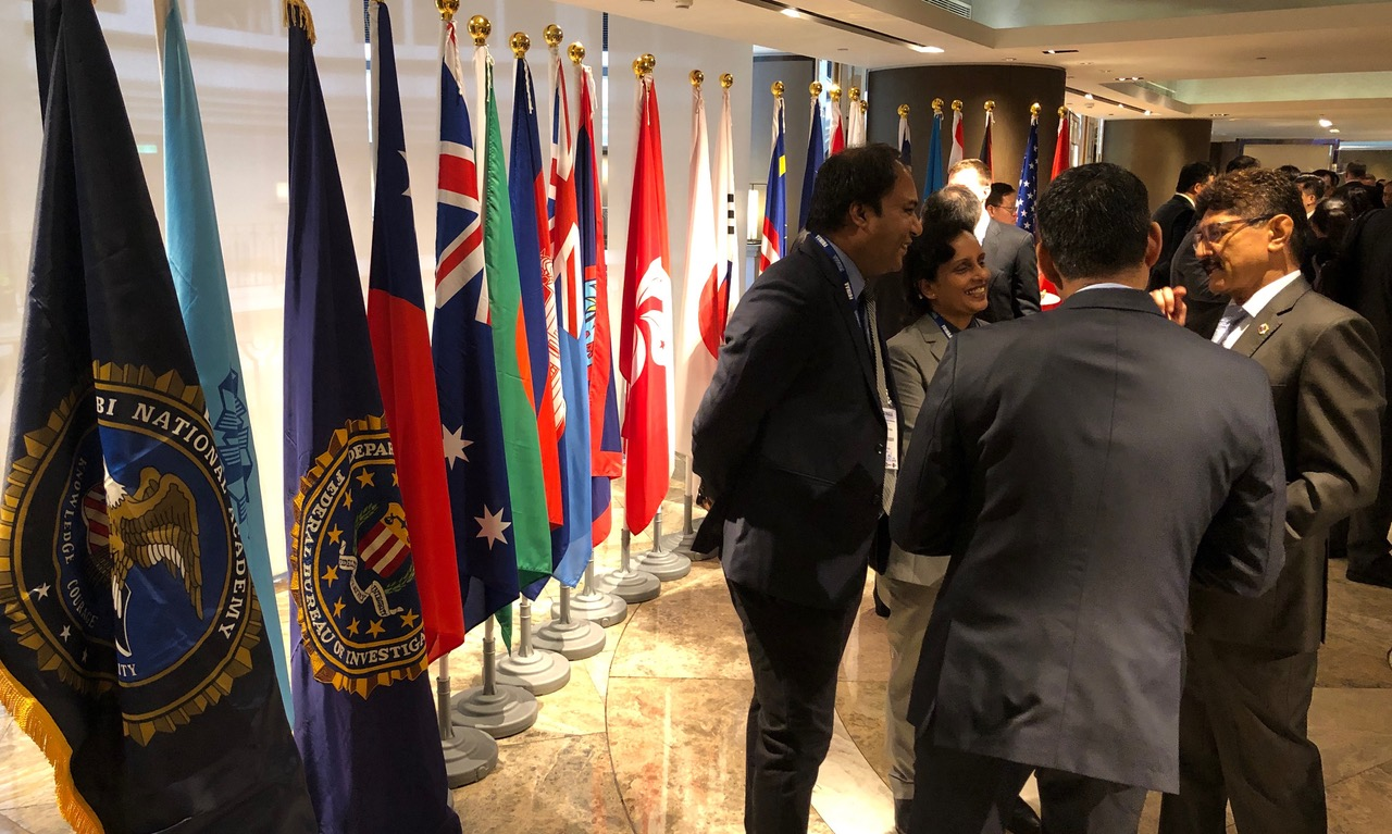 亚太地区20余国近200名高阶执法官员出席在台北的FBI复训。(记者夏小华摄)