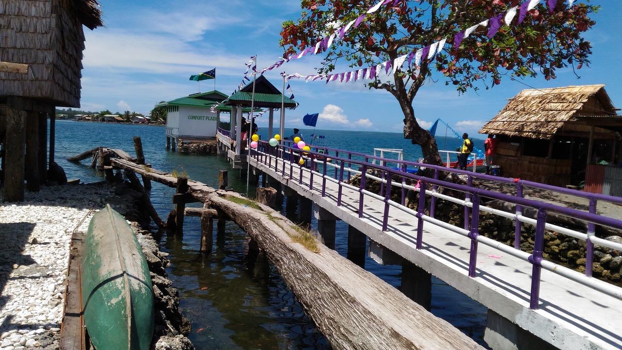 台湾资助友邦所罗门的外岛卫生水源计划。(于德胜提供)