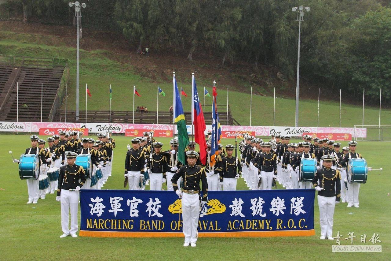 台湾海军敦睦舰队曾访问所罗门。(于德胜提供)