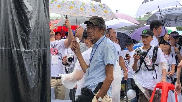 前香港铜锣湾书店店长林荣基呼吁台湾人以行动拒绝红色媒体。(记者夏小华摄)