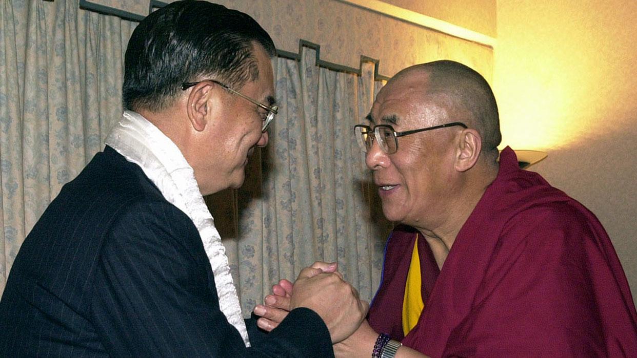 前副总统及前国民党主席连战也曾与到访台湾的达赖喇嘛见面。(路透社)