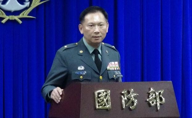 国防部发言人史顺文(RFA资料照、记者夏小华摄)