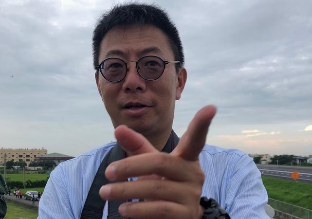 全球防卫杂志采访主任陈国铭。(RFA资料照、记者夏小华摄)