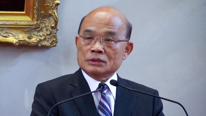 """而对国台办推出""""九二共识""""文宣攻势,台湾行政院长苏贞昌表示,中共善待自己国民才赢得台湾人好感。(资料照/AP)"""