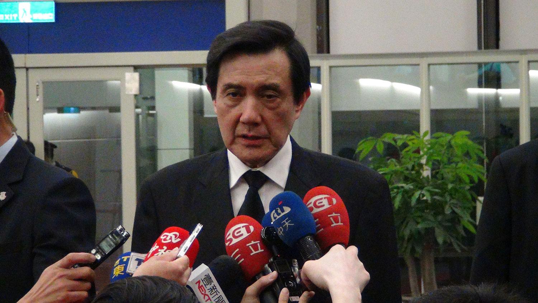 """在台湾力推""""九二共识""""的前总统马英九,叮咛北京要尊重历史。(资料照/夏小华摄)"""