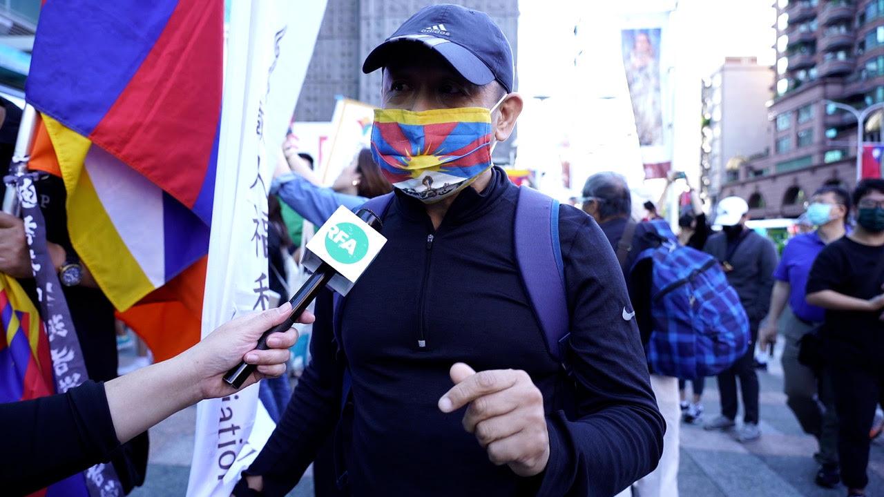 在台西藏人丹增南达。 (记者李宗翰摄)