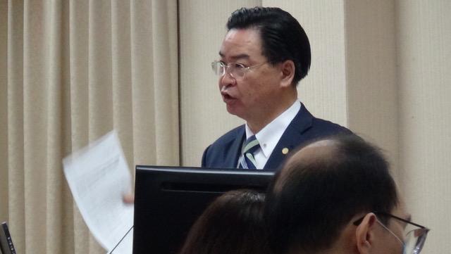 台湾外交部长吴钊燮2日在立法院答询表示,官网已声明澄清华盛顿邮报报导不实。(记者夏小华摄)