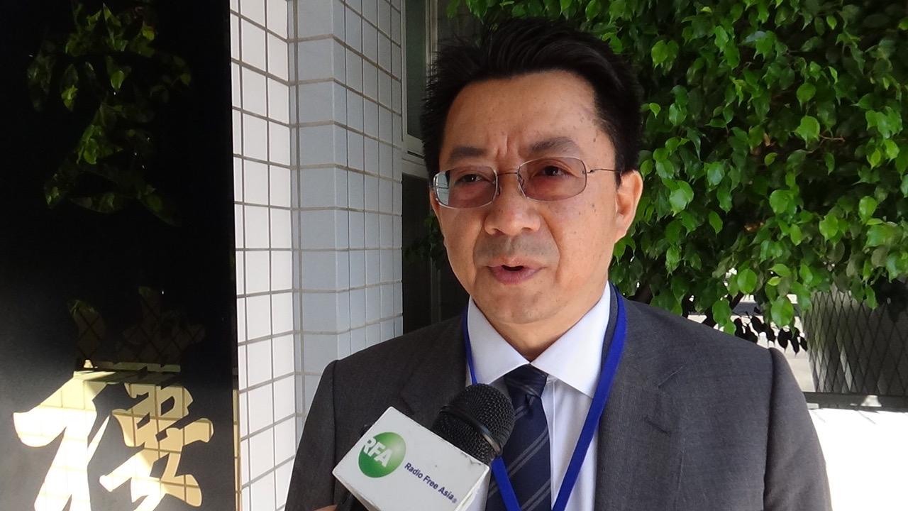 台湾民主基金会执行长廖福特。(记者夏小华摄)