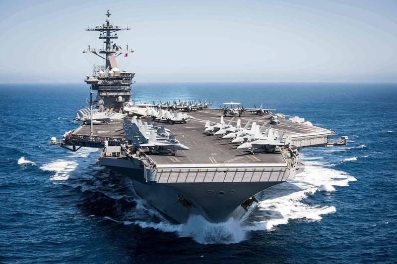 罗斯福号航舰打击群(USSTheodore Roosevelt)(法新社图片)