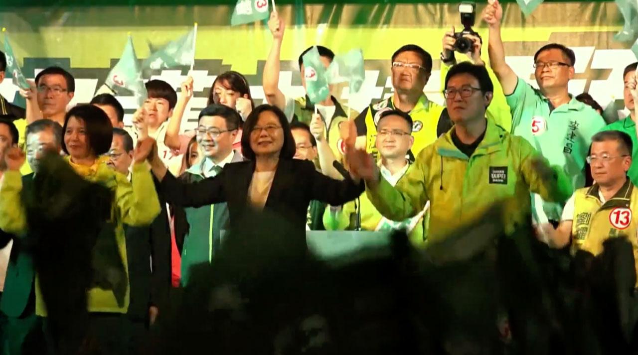 蔡英文在二次大选中获胜。(HFX视频)