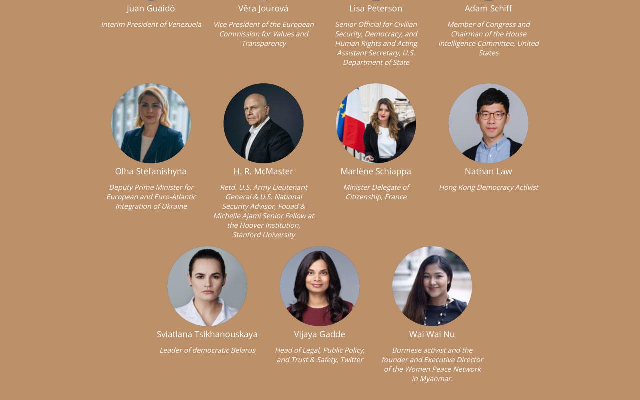 流亡英国的前香港立法会议员罗冠聪受邀2021哥本哈根民主峰会。(Copenhagen Democracy Summit官网)