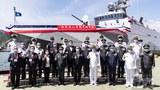 """台湾首艘自造 具区域防空火力小型舰""""塔江舰""""交舰"""