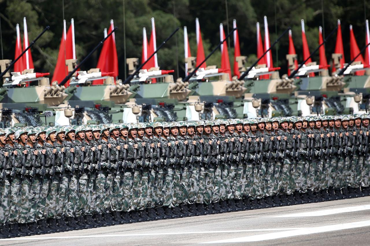 中国大陆解放军。(路透社)