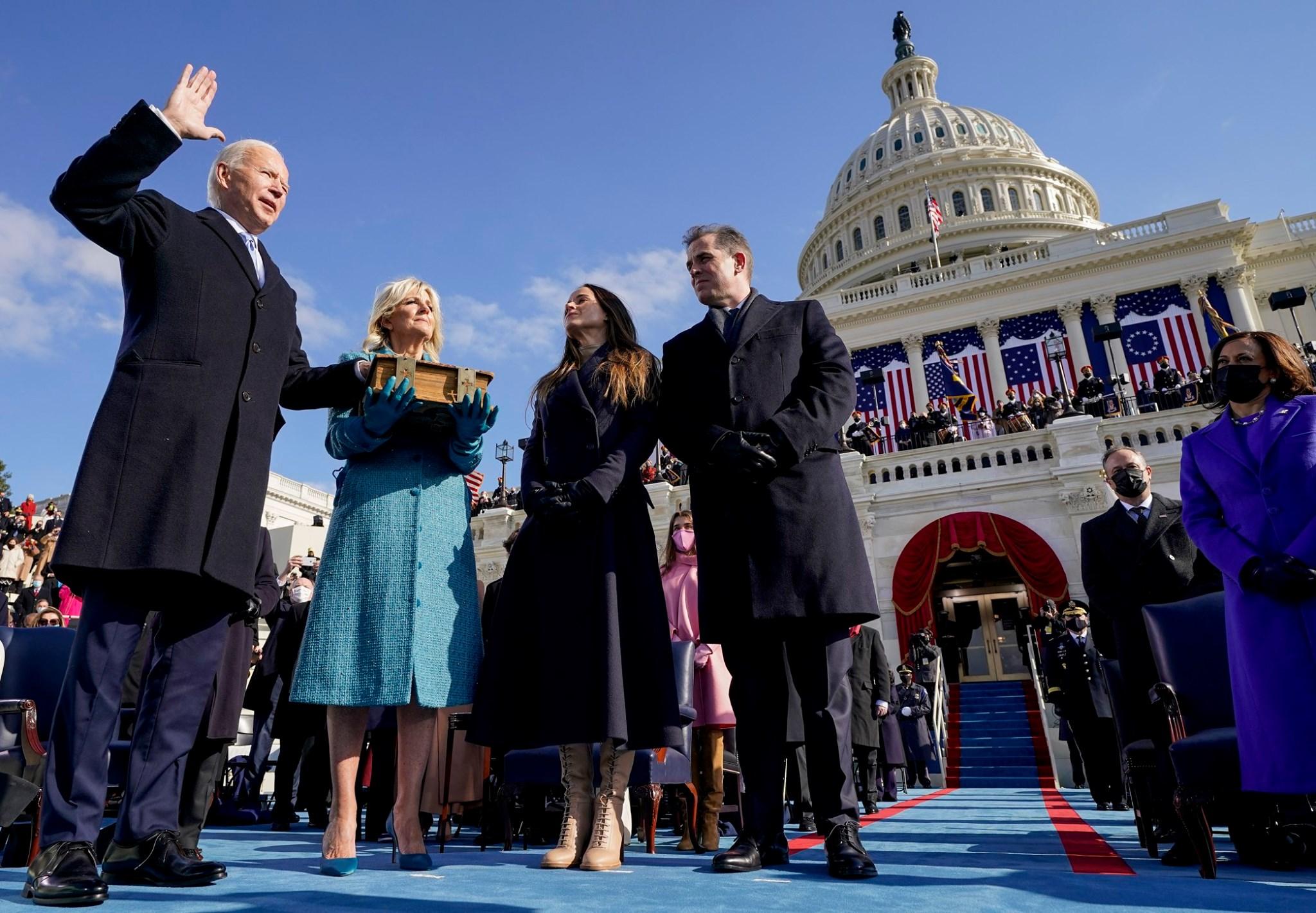 美国拜登总统1月20日宣誓就职。(美国在台协会脸书)