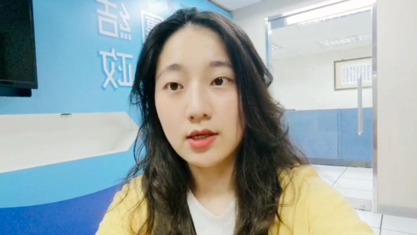 国民党发言人洪于茜22日针对中国人大要审香港版国安法发表看法。(国民党提供)