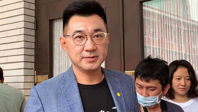 国民党主席江启臣质疑蔡英文若停止港澳条例,如何跟香港人站在一起?(记者夏小华摄)