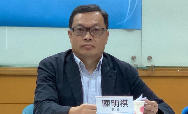 陆委会前副主委陈明祺。(记者夏小华摄)