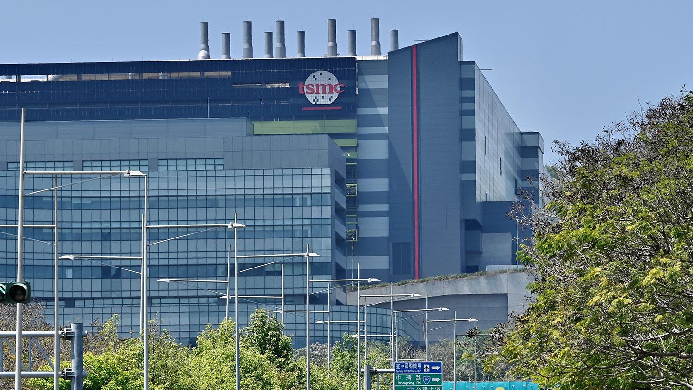 台湾半导体制造商台积电在台中台湾科学园的一家工厂。(法新社)