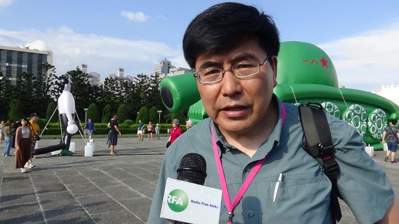 美国纽约城市大学教授夏明。(记者夏小华摄)