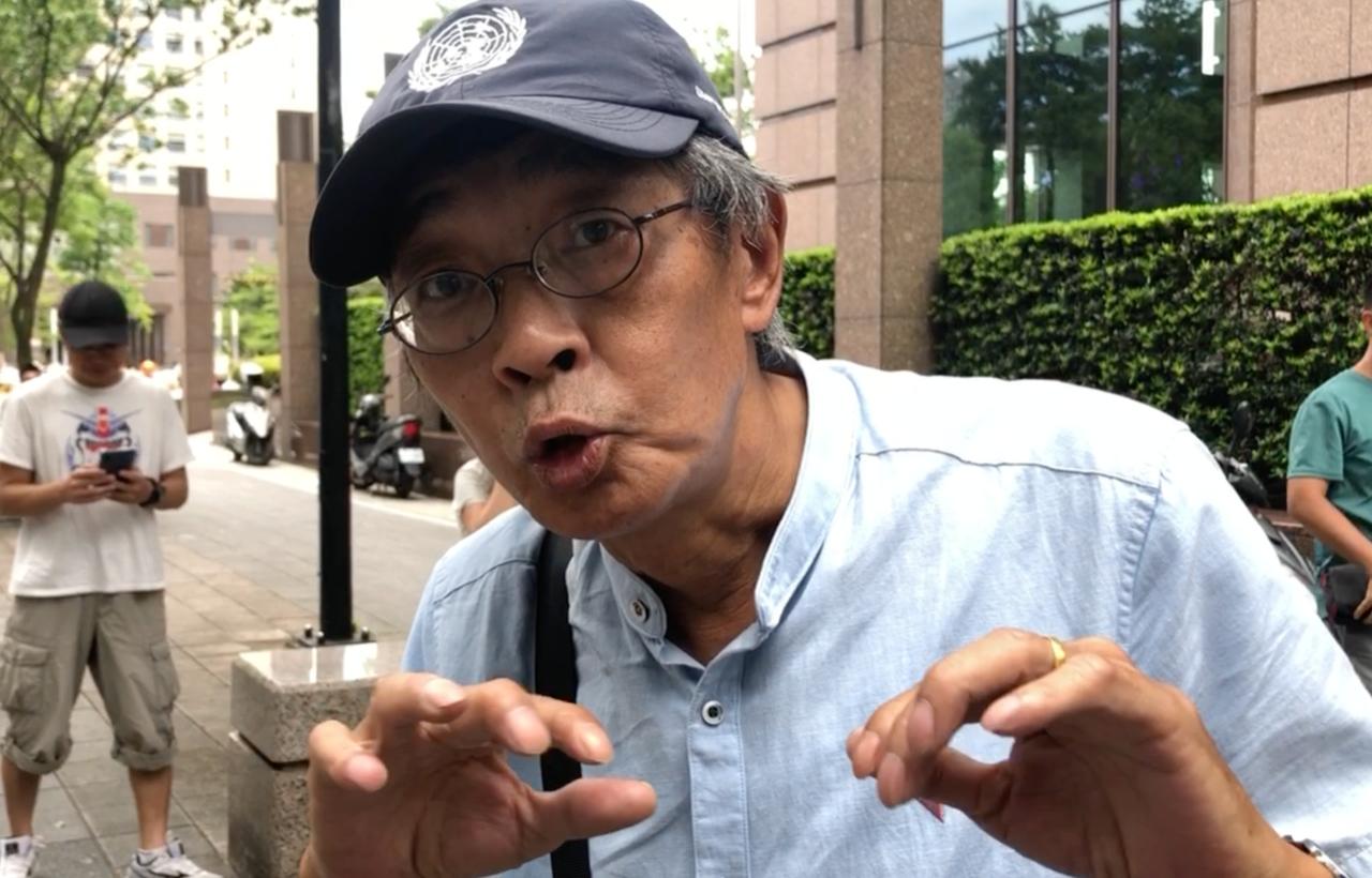 前香港铜锣湾书店老板林荣基接受自由亚洲电台采访,反对港府修订逃犯条例。(记者夏小华摄)