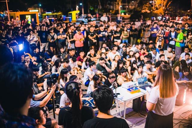 臺南成功大學12號晚間舉辦聲援香港反送中晚會。(摘自成大學生會臉書)