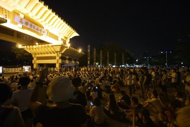 """12号晚间高雄场""""反送中反逃犯条例""""晚会。(台湾基进党提供)"""