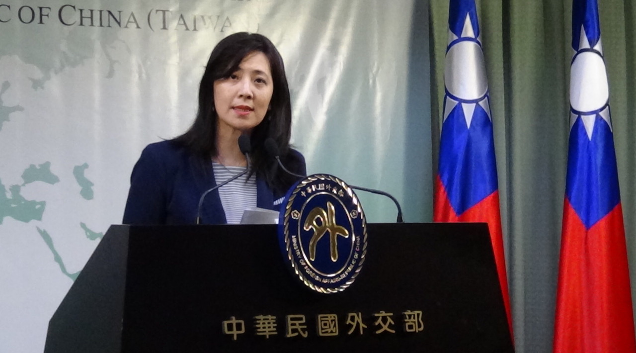 外交部副发言人欧江安。(记者夏小华摄)
