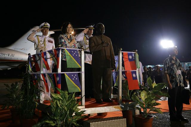 所罗门群岛与台湾外交关系是否生变受关注。(摘自总统府)